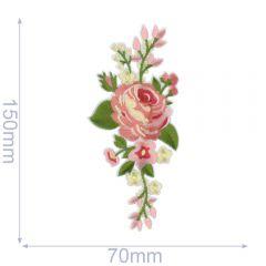 HKM Applikation 70x150mm Rose - 5Stk