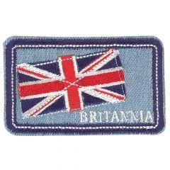 HKM Applikation Britannia und Flagge Jeans - 5Stk