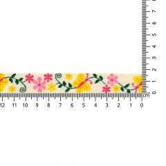 Gewebtes Band Schmetterling-Blume 17mm - 25m