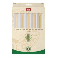 Prym 1530 Strumpfstricknadeln-Set Bambus 2.50-4.50mm - 1Stk