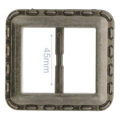 Zierschnalle Viereck Kunststoff 45mm - 6Stk