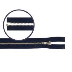 Reißverschluss teilbar schmal 50cm nickel - 5Stk