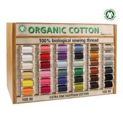 Scanfil Organic Cotton Nähgarn 5x100m - 36 Farben - 1Stk