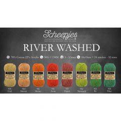 Scheepjes River Washed Sortiment 5x50g - 8 Farben - 1Stk