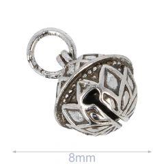 Zierglöckchen 8-14mm silber - 50Stk