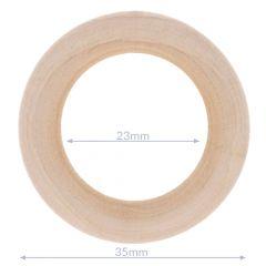 Holzringe natur Außendurchmesser 34-100mm - 5Stk
