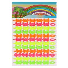 Band mit Schmetterlingen Neonfarben - 3Stk