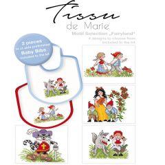 Tissu de Marie Stickpackung Lätzchen 20x22cm weiß - 1Stk