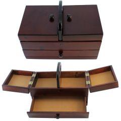 Nähbox dunkles Holz - 1 Stück