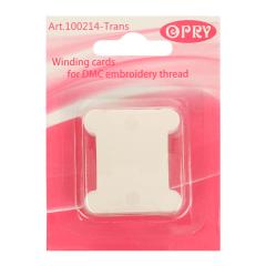 Opry Sticktwist Wickelkarten Plastik transparent - 10x20Stk