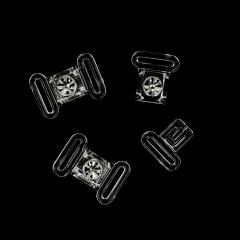 Bikini Verschluss Strass 12 mm - 10 Stück - transparent