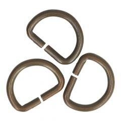 D-Ringe 12mm - 50 Stück - bronze