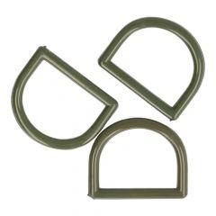 D-Ringe 30mm Plastik - 50 Stücks - grau