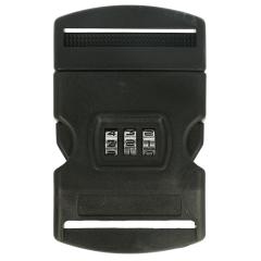 Steckschnalle mit Zahlenschloss 50mm schwarz - 10Stk