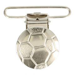 Hosenträger-Clips Fußball nickel 36mm - 10 Stück
