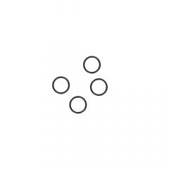 Ring 6mm transparent, schwarz und weiß - 100Stk