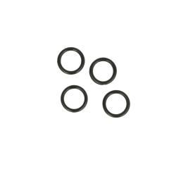 Ring 10mm transparent, schwarz und weiß - 100Stk