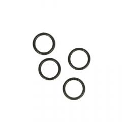 Ring 12mm transparent, schwarz und weiß - 100Stk