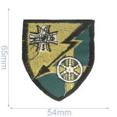 Applikation Wappen 54x65mm grün - 5Stk