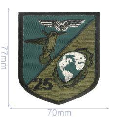 Applikation Vogel 25 70x77mm grün - 5Stk