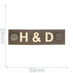 Label H&D 89x24mm braun - 5Stk