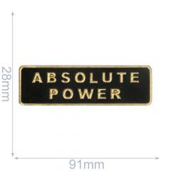 Label Absolute Power 91x28mm schwarz-gold - 5Stk