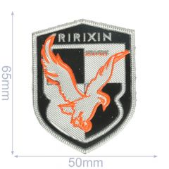 Label Ririxin 50x65mm schwarz-silber - 5Stk