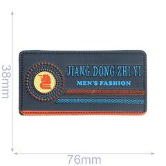 Label Jiang Dong Zhi Yi Men's Fashion 76x38mm blau - 5Stk