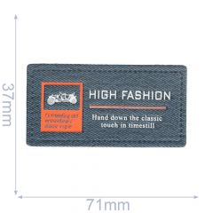 Label High Fashion 71x37mm blau - 5Stk