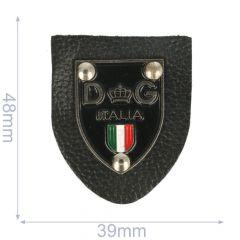Label DG Italia 39x48mm schwarz - 5Stk