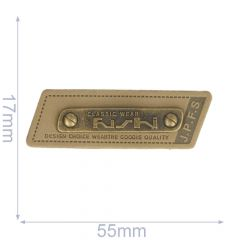 Label Classic Wear 55x17mm braun - 5Stk