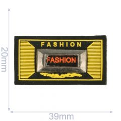 Label Fashion 39x20mm schwarz-gelb - 5Stk