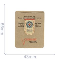 Label Collection Fashion 43x54mm braun - 5Stk