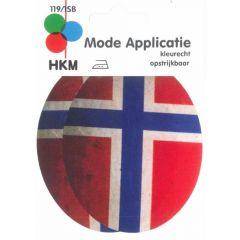 Knie-/Ellenbogenflicken Norwegen - 5 Stück