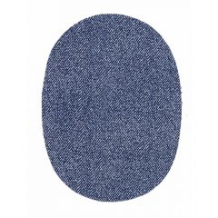 Knie-Flicken Jeans dunkelblau 2 Stück - 5 Sets