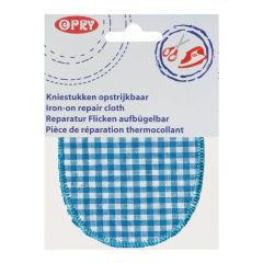 Opry Knie-Flicken zum Aufbügeln kariert 11,5x9cm - 5Stk