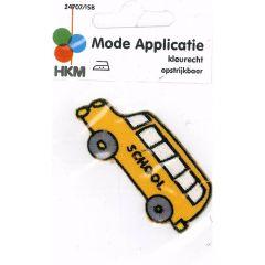 Applikation Schulbus - 5 Stück