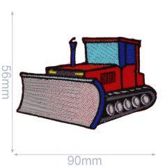 HKM Applikation Bulldozer 90x56mm - 5Stk