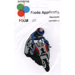 Applikation Motorradfahrer von vorne - 5 Stück