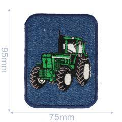 HKM Applikation grüner Trecker auf Jeans - 5Stk