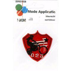 Applikation 023 Motorrad rot - 5 Stück