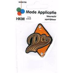 Applikation Do in Dreieck orange - 5 Stück