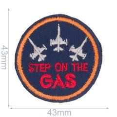 Applikation Step on the gas blau - 5 Stück