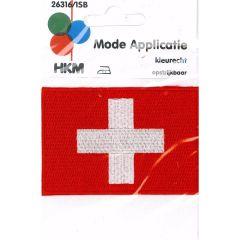Applikation Flagge Schweiz - 5 Stück