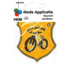 Applikation Dirt Jumping Fahrrad, gelb - 5 Stück