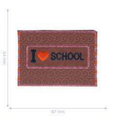 Applikation Love School reflektierend - 5 Stück