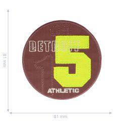 Applikation Detroit 15 rot - 5 Stück
