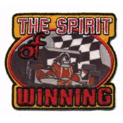 HKM Applikation The Spirit of Winning 75x65mm - 5Stk