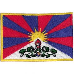 Applikation Flagge Tibet - 5 Stück