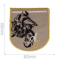 Applikation Motocross Fahrer - 5 Stück